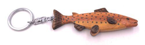 Saibling Forelle Fisch Angeln Echt Holz Edel Handmade Schlüsselanhänger Anhänger