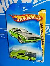 2009 #29 Premier Hot Wheels /'70 PLYMOUTH AAR CUDA☆Orange//black; 5sp☆New Models