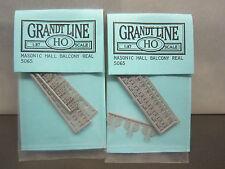 LOT OF 2 GRANDT LINE HO SCALE 5065 MASONIC HALL BALCONY REAL   Z1A