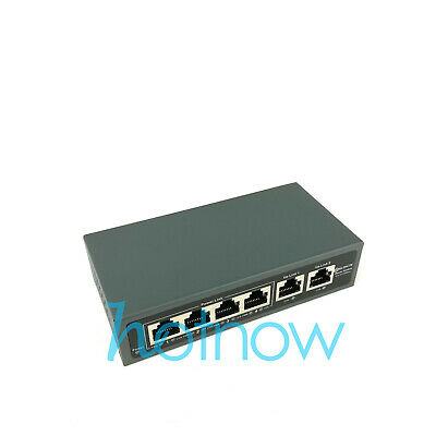 DSLRKIT 9 Ports 8 PoE Injector Power Over Ethernet Switch without Power Adapter