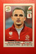 Panini EURO 2012 N. 64 POLSKA DUDKA NEW With BLACK BACK TOPMINT!!