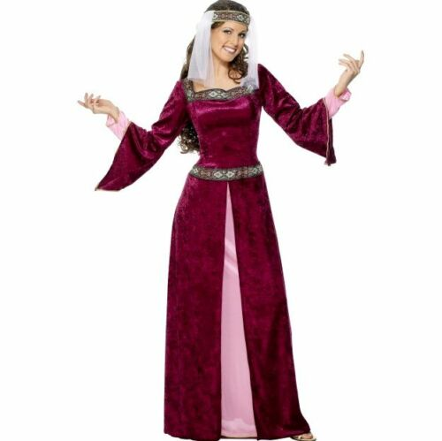 Game Of Thrones - Maid Marion Burgundy Medieval Women Costume