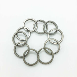 EDC 5 pcs Size L Titanium Keychain Key Ring Split Ring 28mm
