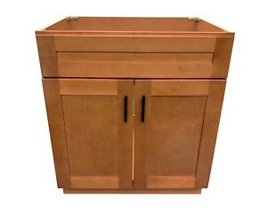 new maple shaker single sink bathroom vanity base cabinet 30 x 21 rh ebay com maple bathroom vanities unfinished maple bathroom vanity