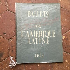 Programa J. Perez Fernandez Ballets De América Latina Teatro Marigny 1951