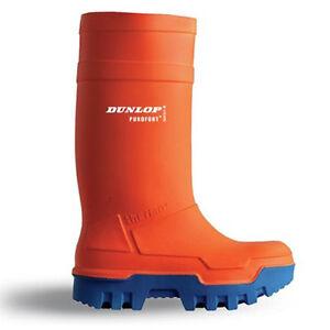 dunlop stivali  Stivali Dunlop Purofort Thermo+ piena sicurezza termici arancione ...