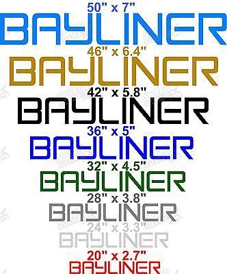 "* BAYLINER BOAT DECAL 2 /""GRAY/"" VINYL BAYLINER DECALS PICK SIZE"