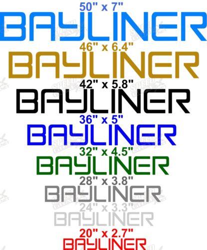 "/""GRAY/"" VINYL BAYLINER DECALS PICK SIZE 2 * BAYLINER BOAT DECAL"