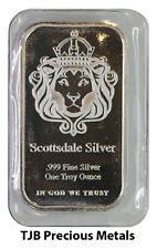 1oz (Troy) Scottsdale Mint Silver Bar 999.0 Fine Silver 'The One' design