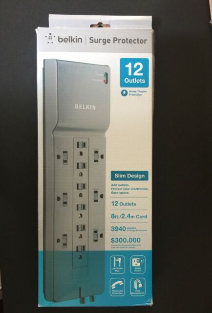 12 Dsl  Coax Surge Protector Belkin 8ft  Low