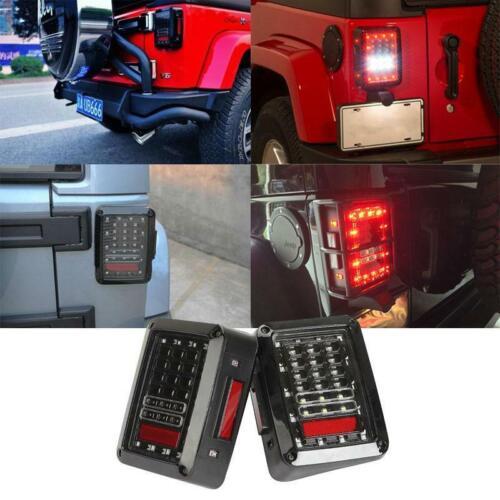 For 2007-17 Jeep Wrangler JK LED Tail Lights Brake Reverse Rear Turn Signal Lamp