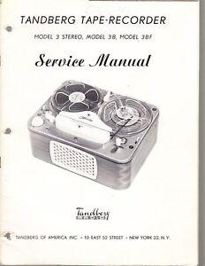 tandberg service manual for model 3 3b tape recorder ebay rh ebay co uk tandberg 3011 service manual tandberg 3014 service manual