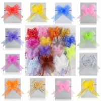 Fashion 50mm Organza Ribbon Pull Bows Wedding Car Decoration Gift Wrap 10pcs UK