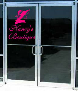 Boutique Salon Clothing Business Sign Vinyl Decal Sticker Sign - Vinyl decals for glass doors
