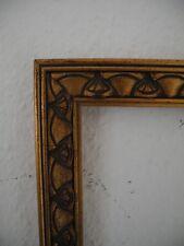 alter Bilder-Rahmen Mittelformat Jugendstil Falzmaß  27,8 x 27,8 cm (39)