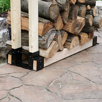 Sunnydaze Diy Log Rack Brackets Kit, Outdoor Log Rack