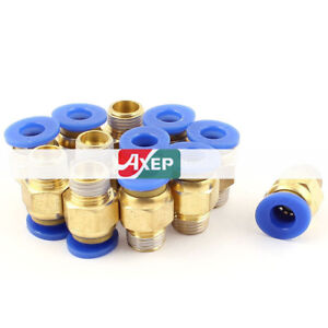 """H● 8* 1//2/""""PT Male 8mm Connector Dia.One Touch Tube Push in Quick Fittings"""