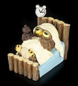 Gute Nacht Lustige Eulen Figur Bett Schlafen Geschenk Witzig