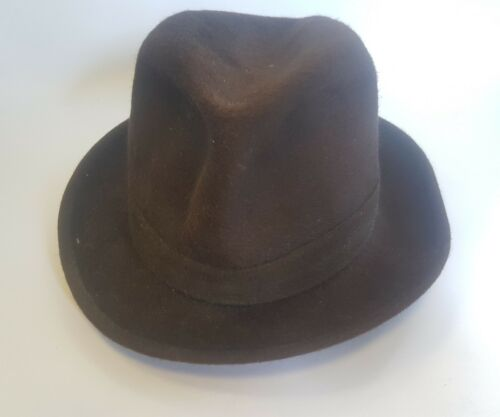 Middle 1900s Borsalino Mens Brown Hat Qualita Extr