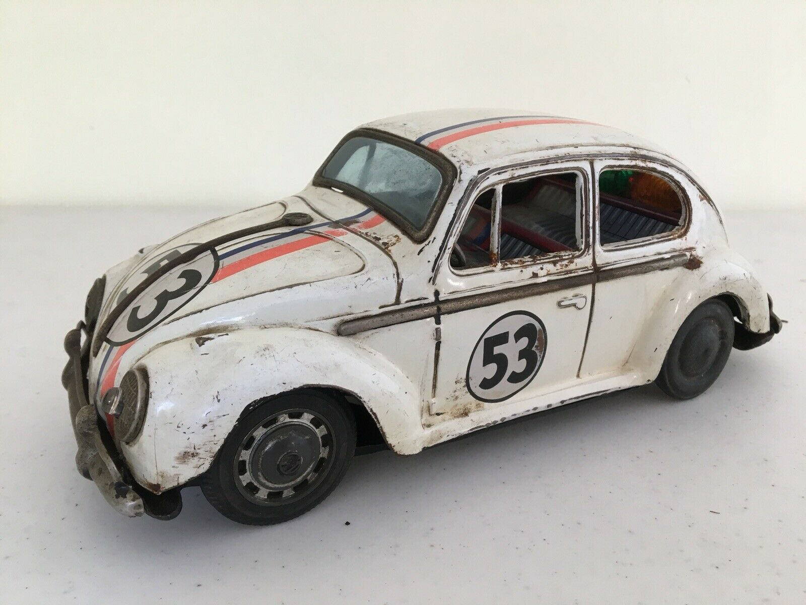 VW Bug EsCocheabajo 53 Herbie Lata Hecha En Japón 1966, 9 Pulgadas Muy Raro