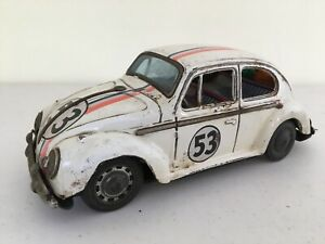 VW-Bug-Beetle-53-Herbie-Tin-Made-In-Japan-1966-9-Inches-Very-Rare