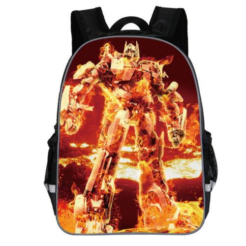 """14/""""  Transformers Kids Boys School Shoulder Bag Children Backpack Rucksack"""