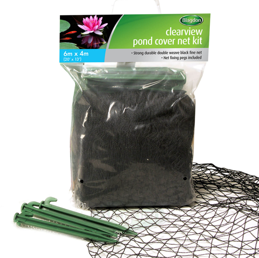 Blagdon Pond Cover Net 6 x 4m - Double Weave Black Fine Net With Pegs #18A31