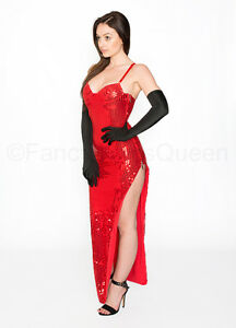 Image is loading Jessica-Rabbit-Costume-Sequin-Dress-Fancy-Dress-Outfit-  sc 1 st  eBay & Jessica Rabbit Costume Sequin Dress Fancy Dress Outfit UK Sizes 6/8 ...