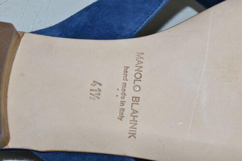 Details about  /NEW Manolo Blahnik PETALA 3 D Camellia Blue Suede Sandals Slide SHOES 41.5