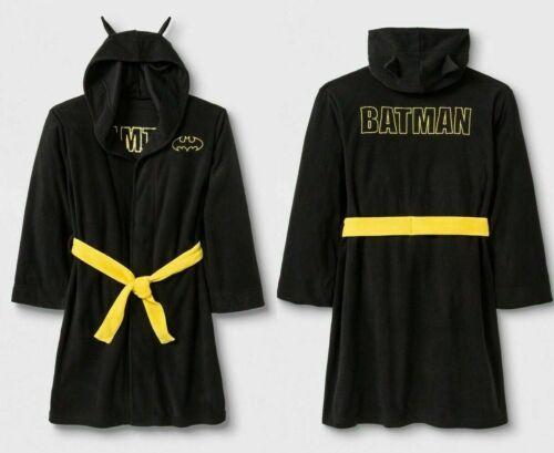 Batman Hooded Fleece Robe Boys Size Large 10//12 NWT