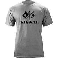 Us Army Signal Branch Insignia Crossed Signal Flags Veteran Graphic T-shirt