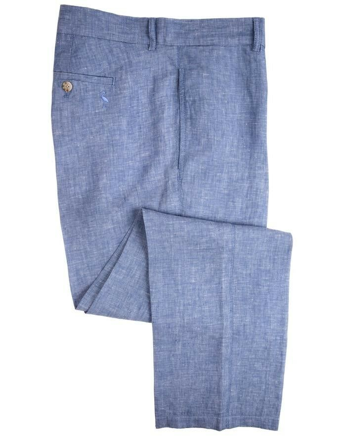 TailorByrd Collection Linen Pants bluee Mens Size 32x32 New