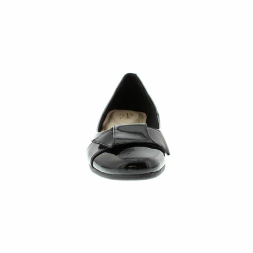 Brevetto Casual Ladies Tessile Clarks Pelle Monetina' Nero Ballerine 'discovery zBqczWp0I