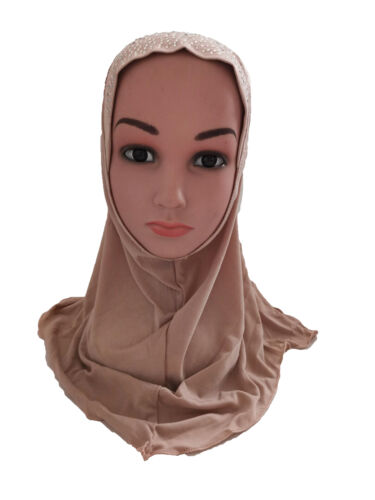 One Piece Amira Hijab Muslim Kid Girl Headscarf Instant Scarf Niqab Burqa Turban