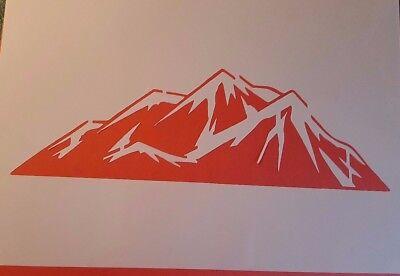 Schablone Berge auf A4