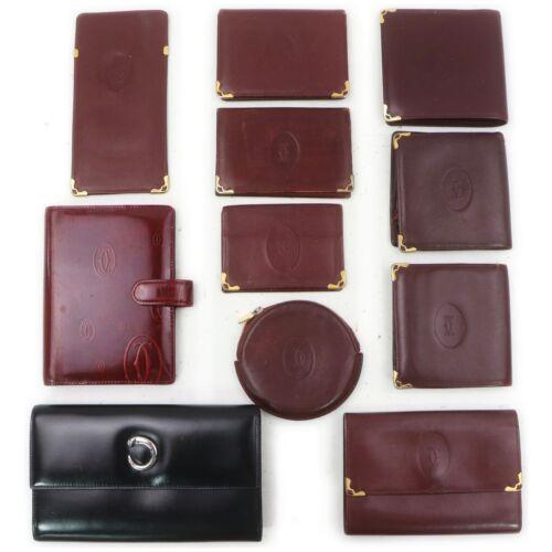 Cartier Leather Enamel Wallet Card/Eye Glasses Cas