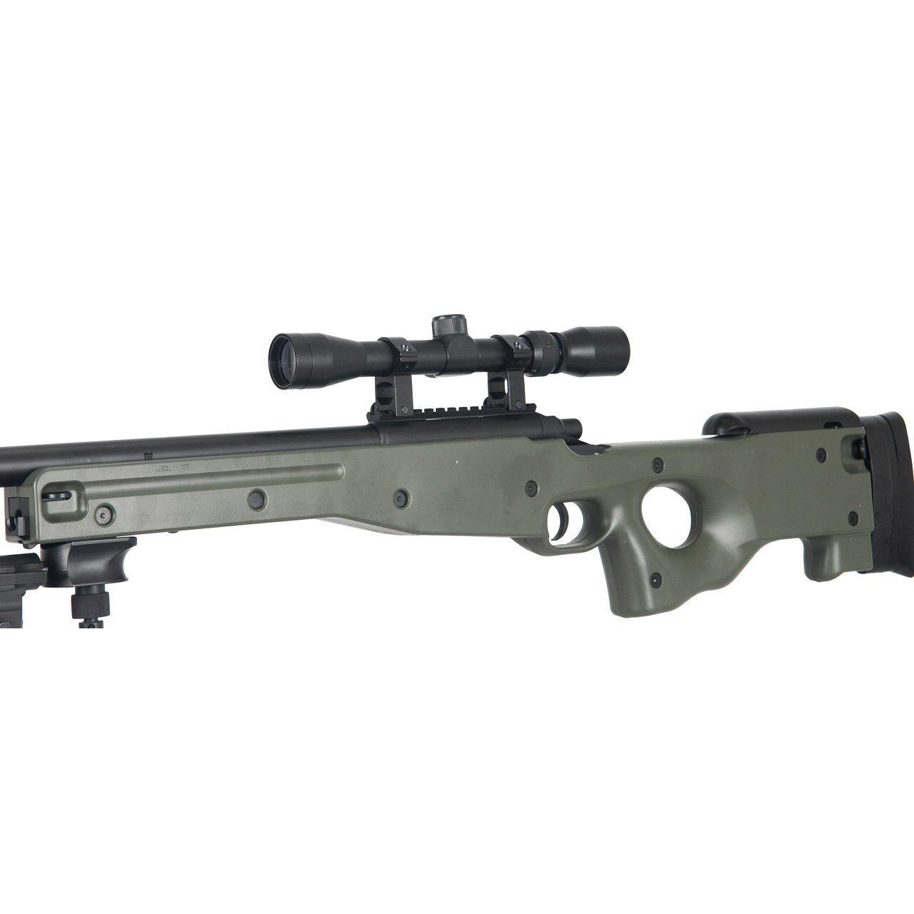 515 Fps Agm L96 Awp Awm Spring Airsoft Gun Sniper Rifle Scope Green