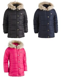 31204a3206b4 New Tommy Hilfiger Hooded Peacoat Puffer Coat with Faux-Fur Trim ...