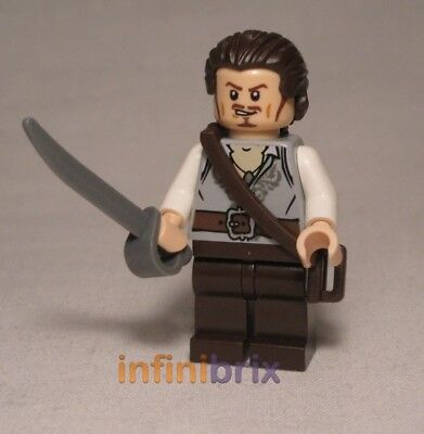Lego Admiral Norrington Head Hair from set 4183 Pirates of the Caribbean NEW