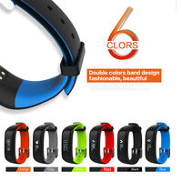 Smart Watch Wrist Band Heart Rate Blood Pressure Pedometer Sport Fitness Tracker