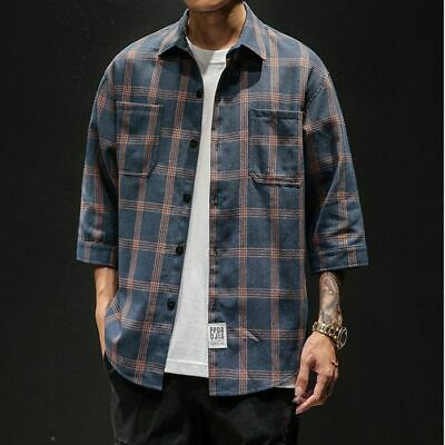 MEGA SALE!! Vintage Candy Fantasy Japanese Brand Casual Button Down Black Shirt Inspired Designer Streetwear Flannel Fits Size L Y461 Men/'s