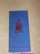 1935 CONOCO CLUB PONCA CITY OKLAHOMA DANCE CARD HIGH SCHOOL DEPRESSION DUST BOWL