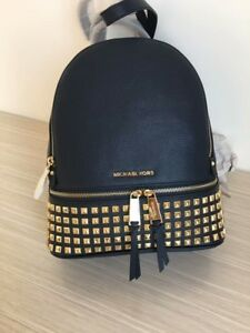 7a0cdc89541d 🌺Michael Kors - 100% RHEA NAVY Studded - Backpack Brand NEW & Tags ...