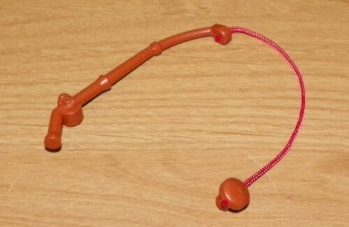 Dark Orange LEGO Duplo Utensil Fishing Rod /& Hook w// Red Line