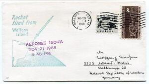 ObéIssant 1968 Wallops Island Rocket Fired Aerobee 150-a Wff Goddard Base Nasa Virginia Excellent Effet De Coussin