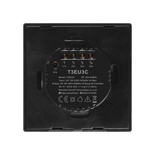 Sonoff T3 TX Commutateur Intelligent voix//APP Contrôle 433 Fréquence Radio WiFi à distance 1//2//3 Gang C8E4