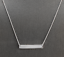 14K-Solid-White-Gold-Bar-Necklace-with-Diamond-Accent thumbnail 1