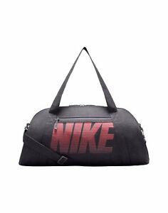 c667544d91d3 Image is loading Nike-Gym-Club-Training-Duffel-Bag-Grey-Red-