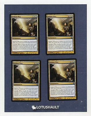 4 PLAYED Ardent Plea Gold Alara Reborn Mtg Magic Uncommon 4x x4