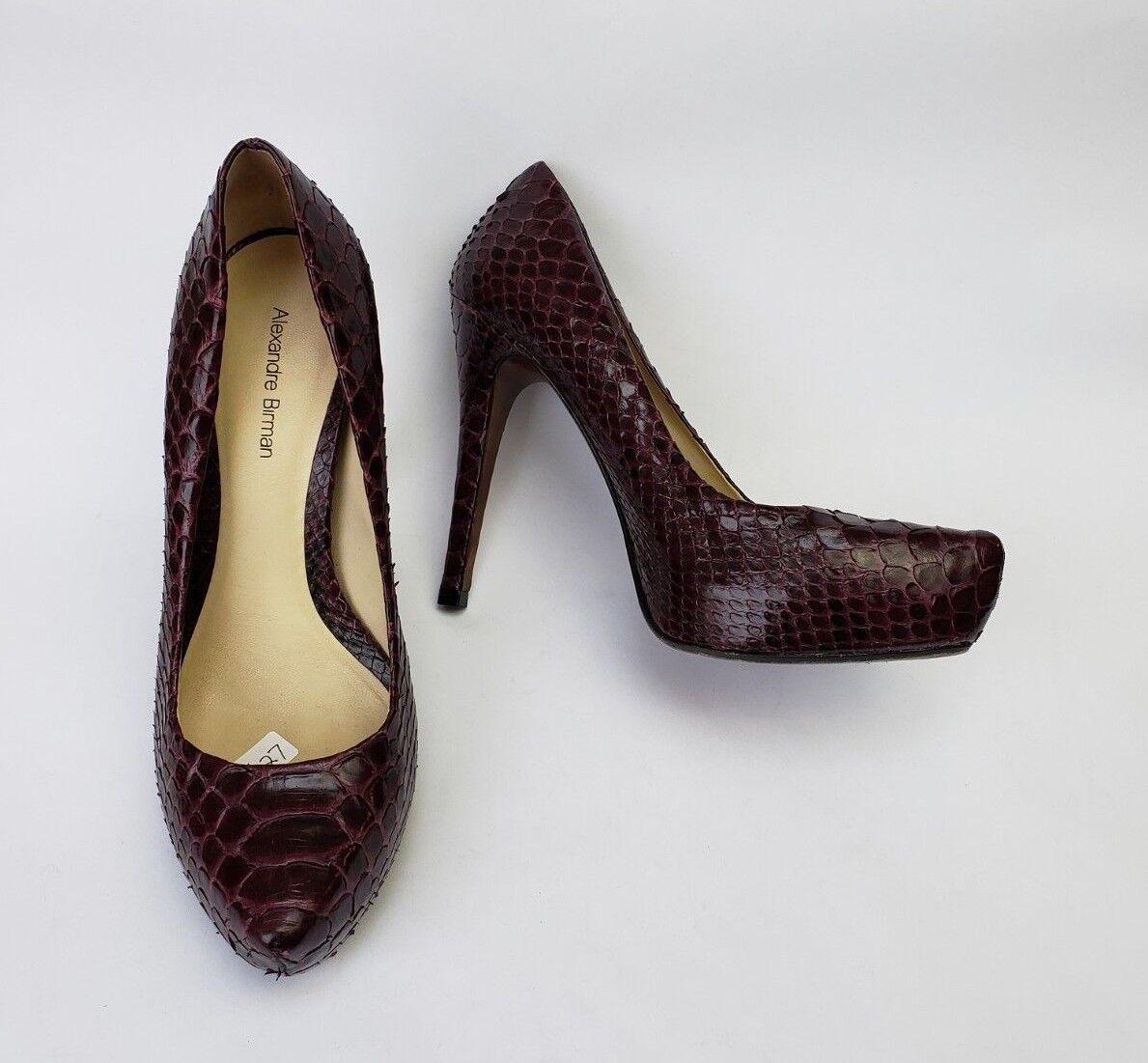 più economico Alexandre Alexandre Alexandre Birman scarpe Heels Plum Pumps Snakeskin Pattern Leather donna Dimensione 7  tutti i beni sono speciali
